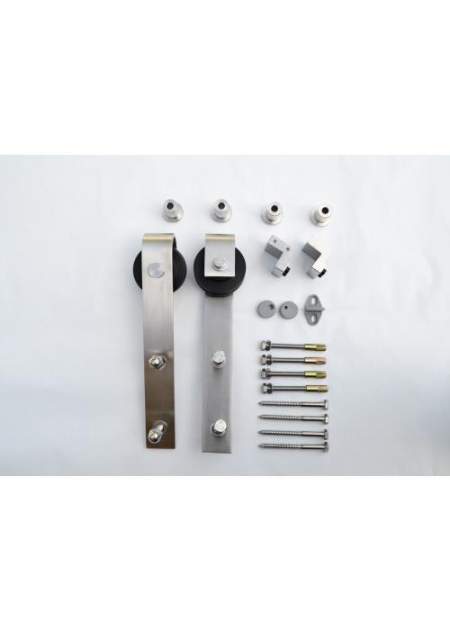 Classic stål skjutdörrsbeslag, portrulle. portrullar, skjutdörr, skjutdörrar, smide, industriell